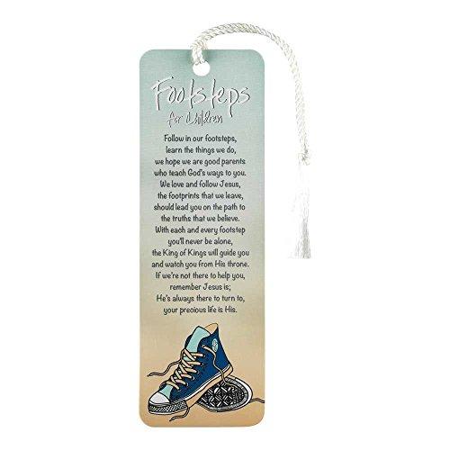 Footsteps For Children Blue Paper 6 x 2 Inches Tassled Bookmark Set of (Tassled Bookmark)
