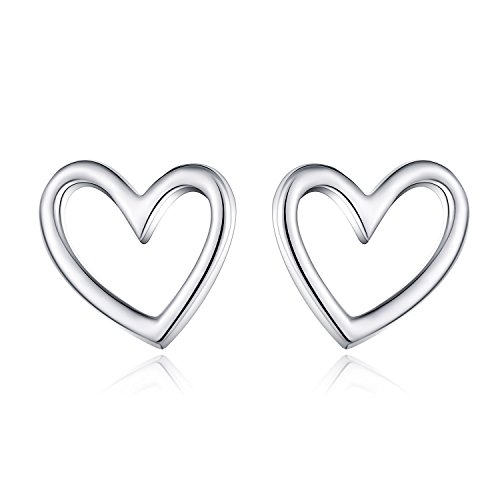 Sterling Silver Earrings Heart Shape (HUIMEI Sterling Silver Small Heart Shape Stud Earrings)