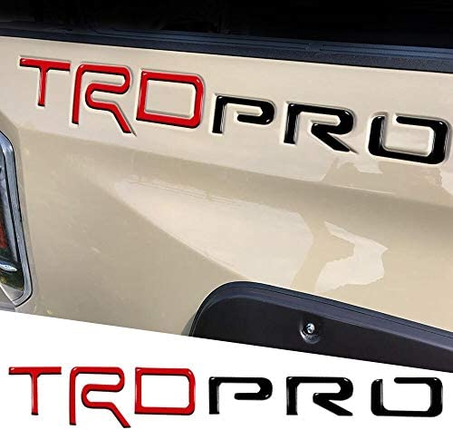 3D Side Insert Letters Raised Emblem Decals Red/&Black Strong Self Adhesive Fits for TRD Pro 2014-2020 Models Never Fade Not Decal Sticker