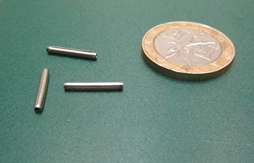 50 pcs. 420 Stainless Steel Coiled Spring Pins.062 Diameter x .500 Length
