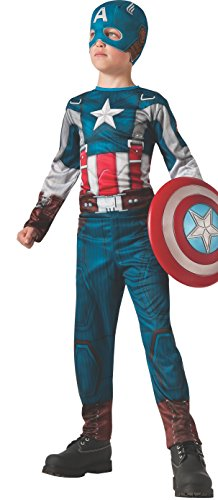 Captain Marvel Girl Costume (Rubies Captain America: The Winter Soldier Retro-Style Costume, Child Large)