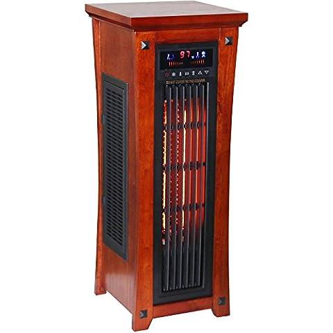 Heat Wave Premium Quality Infrared Quartz Tower Heater Oscillating with Whisper Quiet Fan (Edenpure Heater Premium)