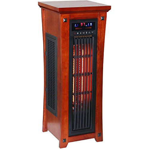 Heat Wave Premium Quality Infrared Quartz Tower Heater Oscillating with Whisper Quiet Fan Infrared Heaters PNB Deals