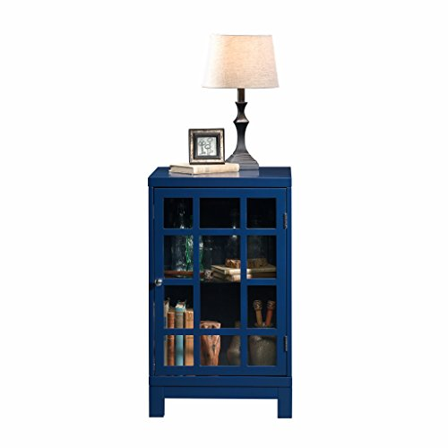 Sauder 420140 Carson Forge Display Cabinet, L: 17.91