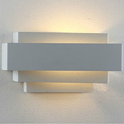 Lightess LED Wall Sconce Lighting Lamp Up and Down Night Light for Hallway Staircase Garden Wall, Warm White