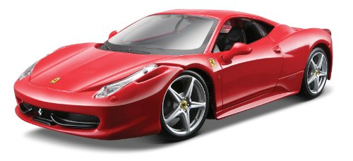 Maisto 1:24 Scale Red Assembly Line Ferrari 458 Italia Diecast Model - Model Ferrari With