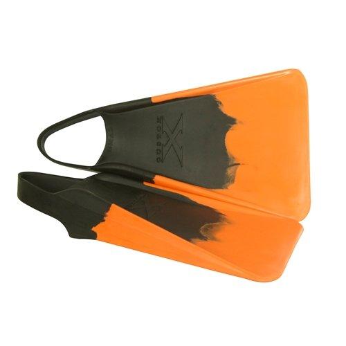 Custom X Swim Fins - Choose Color and Size (Black/Orange, Medium/Large (8-9))