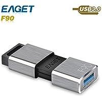 USB Flash Drive, Eaget F90 USB 3.0 High Speed Capless USB Drive Water Resistant Pen Drive Shock Resistant Thumb Drive (64GB)