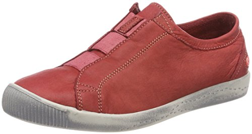 Softinos Damen Ini453sof Washed Slipper Rot (Red)