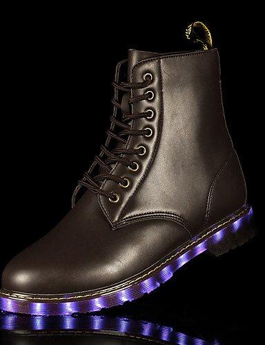 XZZ/ Unisex-Sneaker-Outddor / Lässig / Sportlich-Leder-Flacher Absatz-Komfort-Schwarz black-us5 / eu35 / uk3 / cn34