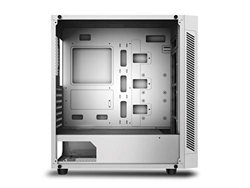 DEEPCOOL MATREXX 55 ADD-RGB White Case, E-ATX Supported, Motherboard or  Button Control of SYNC of 5V 3-pin Addressable RGB Devices of Any Brands,  4mm