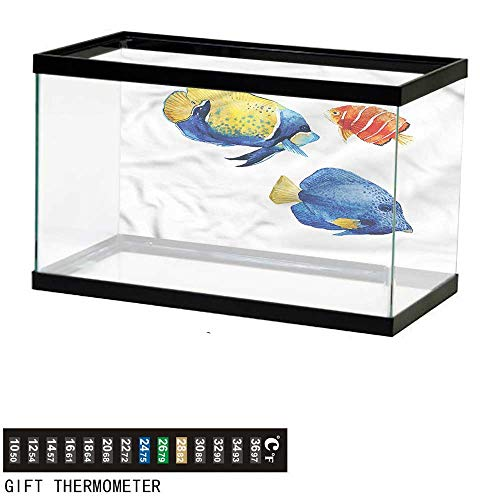 bybyhome Fish Tank Backdrop Fish,Tropic Accents Aquarium,Aquarium Background,36