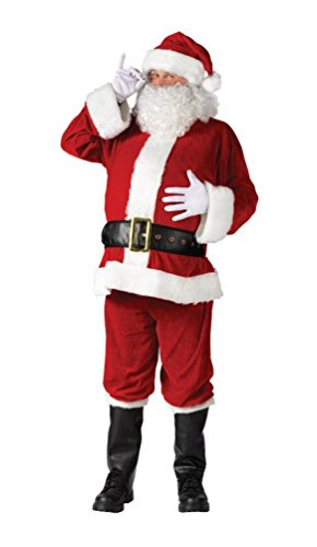 Santa Suit Complete Velour Costumes (Santa Adult Suit Complete Velour Costume)