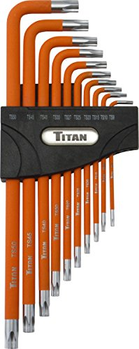 Titan Tools 12734 10-Piece Extra Long Tamper Resistant 5-Lobe Pentalobe Key Set