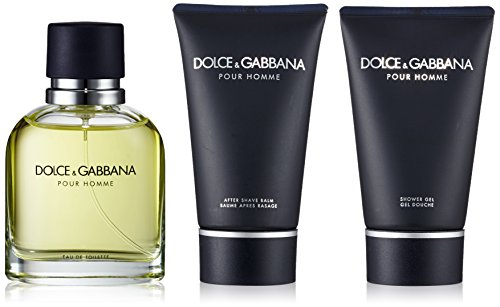 Dolce & Gabbana Pour Homme Coffret: Eau De Toilette Spray 75ml/2.5oz + After Shave Balm 50ml/1.6oz + Shower Gel 50ml/1.6oz 3pcs
