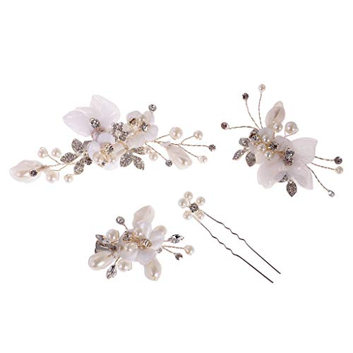 4 Pieces Wedding Party Bridal Rhinestone Wire Barrettes Hairpins Hair Clips