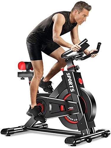 WEALLNERSSE Stationary Exercise Bike Indoor Cycling Bike Fitness Stationary All-inclusive Flywheel Bicycle