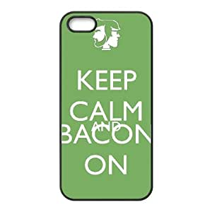 Keep Calm Bacon On iPhone 4 4s Cell Phone Case Black Jrccx