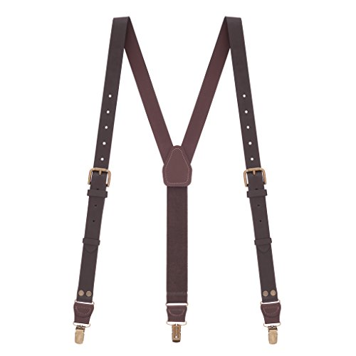 Suspender Store Mens Brown Buckle Strap Leather Su…