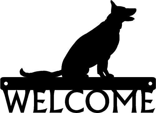(The Metal Peddler Dog Welcome Sign Sitting German Shepherd)