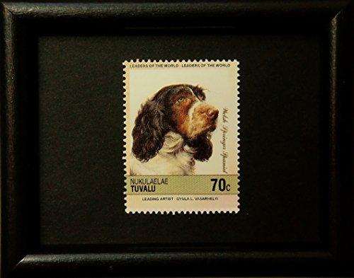 Welsh Springer Spaniel Dog -Handmade Framed Postage Stamp Art 14026AM (Postage Stamp Spaniel)