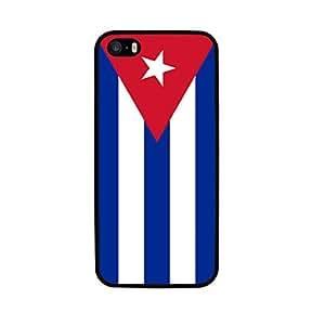 FUNDA CARCASA TPU GEL PARA IPHONE 5 5S DISEÑO BANDERA CUBA MOD.2