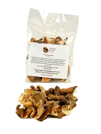 - Dried Oyster Mushrooms - 1 Oz. Bag - Dehydrated Edible Gourmet Pleurotus Ostreatus Fungi
