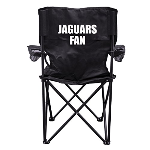Jaguars Fan Black Folding Camping Chair with Carry Bag by VictoryStore