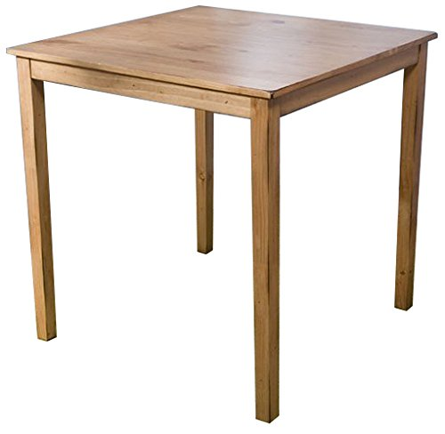 - Target Marketing Systems Counter Height Belfast Table with Apron Trimmed Edges and Shaker Shaped Legs, Rustic Oak