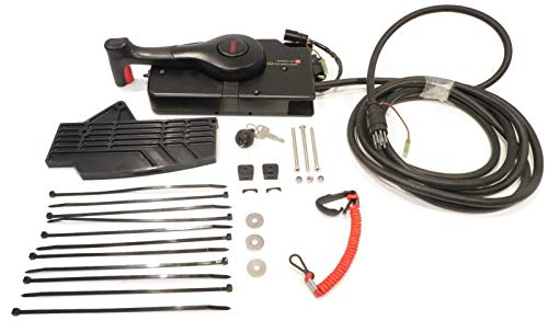 The ROP Shop | Remote Control fits 2005 & Up, 8HP, 9.9HP, 4-Stroke Outboard SAE Cables ()