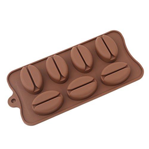 Iumer Coffee Bean Shape Mold Ice Cube Chocolate Fondant Soap