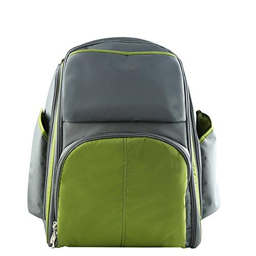 larsuyar multifunción bolsa de viaje mochila–Bolso para pañales con cambiador verde verde verde