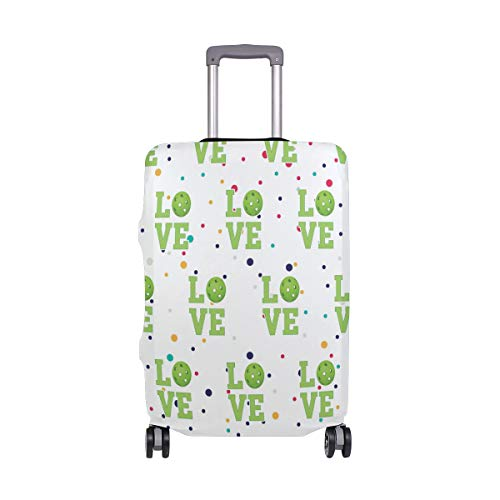 Love Pickleball Travel Luggage Cover - Suitcase Protector HLive Spandex Dust Proof Covers with Zipper, Fits 18-32 inch by HLive (Image #6)