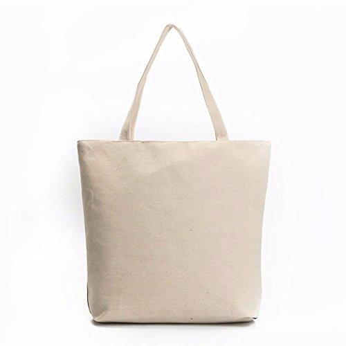 BZLine® Leinwand Eule bedruckte Leinwand Tote lässige Beach Taschen Handtaschen Tasche C 1Nmwq81Dia
