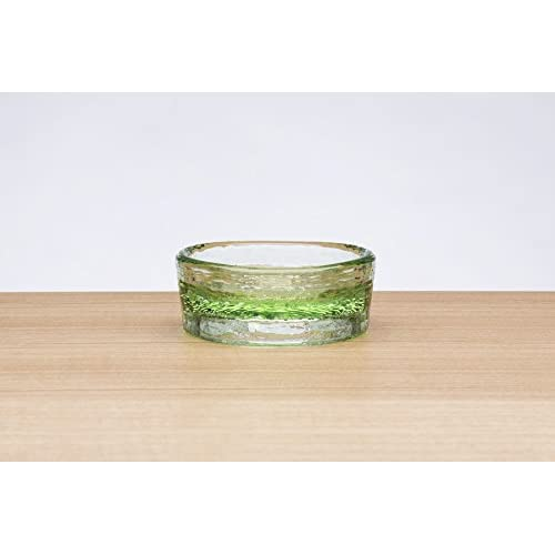 outlet PawNosh Cubby Mini (Smaller) Bowl in CELERY - 100% Recycled Glass Pet Food and Water Bowl