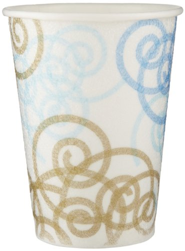 PerfecTouch 5342W Insulated Paper Hot or Cold Cup, Whimsy Design, 12 oz Capacity (20 Sleeves of 50) by Georgia-Pacific