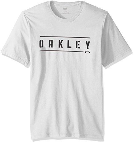 Oakley Men's Double Stack T-Shirt, White, - Oakleys Design