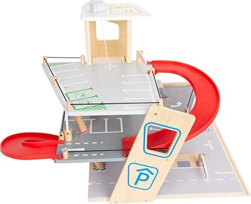 Small Foot- Autosilo Premium, su Tre Piani con rampa, parcheggio in Legno per Bambini, Gioco di Ruolo, 11676