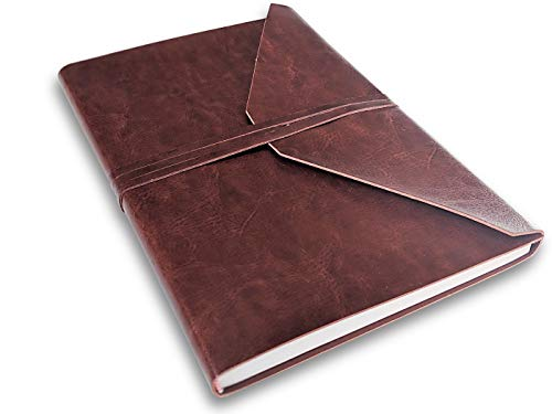 Catdogg PU Leather Journal, Sketch Book, Planner - Handmade Ruled Notebook to Write Goals, Activities and Notes - Travel and Writing Retirement Journals - Birthday Gifts for Men and Women - 160 Pages