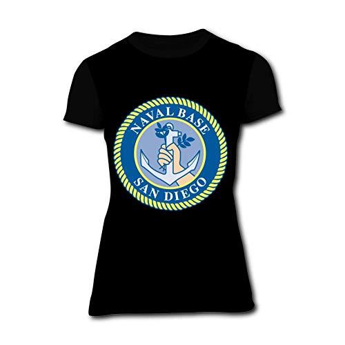 AolaZW Womens Naval Base San Diego Soft 3D Printed Short Sleeve T-Shirt XL ()