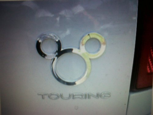 Disney Theme Parks Exclusive Mickey Mouse Icon Auto Car Emblem