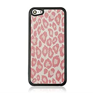 QYF Leopard Print Leather Vein Pattern Hard Case for iPhone 5C
