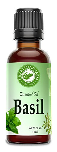 Basil Essential Oil 30ml (1 oz) - Basil Oil 100% Pure- Albahaca Aceite Esencial 30ml (1 oz) - Aceite de Albahaca from Creation Pharm