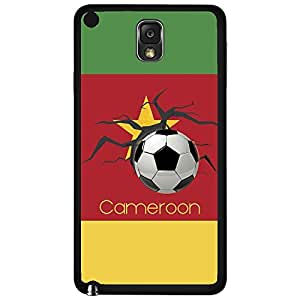 Green, Red, and Yellow Cameroon Soccer Flag Fan Art Hard Snap on Phone Case (Note 3 III)