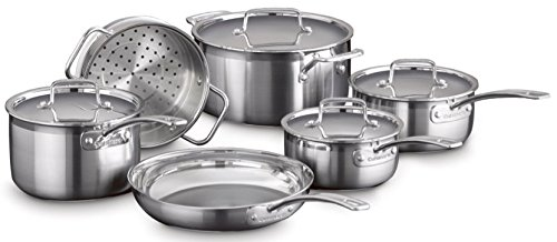 10 Stainless Steel Pro Cover (Cuisinart Multi-Clad Pro Triple Ply Stainless Steel 10 Piece Set)