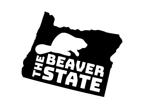 JB Print Oregon The Beaver State Vinyl Decal Sticker Car Waterproof Car Decal Bumper Sticker ()