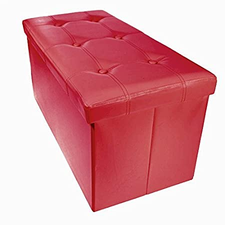 Down Under Folding Storage Large Ottoman (Red) ITY International