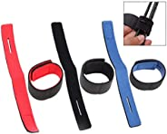 Gearmax 6 Pcs Fishing Rod Tie Strap Belt,Adjustable Non-Slip Fishing Pole Wrap Band Holder Fishing Accessories