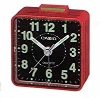 Casio TQ140 Travel Alarm Clock - Red Clock Radios