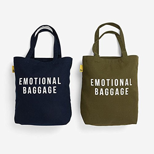 5d2d6e32 The School of Life - Emotional Baggage Tote Bag - Canvas Tote Bag (Navy)